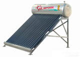 Nenhum calefator de água concentrado pressão da potência solar