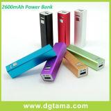 batería de reserva externa portable de la potencia del cargador de batería del USB 2600mAh