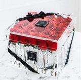 Namen Transparante Acryl 25 PCs van Squre de Doos van de Bloem voor Minnaar toe