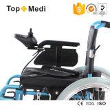 Кресло-коляска электричества горячего сбывания Topmedi складная облегченная алюминиевая