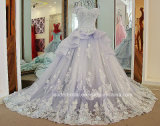 Cape Sleeves Bridal Ball Gowns Beading Organza Wedding Dress Tb279