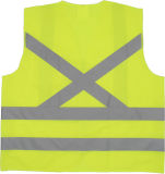 Tipo elevado veste reflexiva do Chile do desgaste do trabalho da visibilidade da segurança com Ce e ANSI