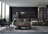 Sofà americano del cuoio genuino di stile per mobilia domestica