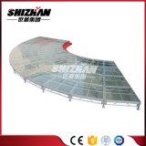 Этап Китая модульный напольный стеклянный для случая