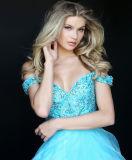 Populäre Abend-Kleid-Entwurf WegSchulter, die A - Zeile Abschlussball-Kleid bördelt