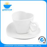 '' Tazza di tè bianca della porcellana marchio 150ml/4.75 Heart-Shaped personalizzato