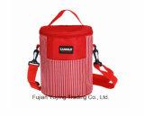 Saco vermelho do refrigerador do organizador do saco do piquenique com tamanho feito sob encomenda