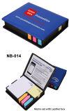 Titular colorido de notas adhesivas de papel en la caja de la PU