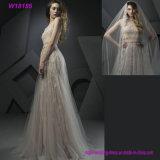 Профессиональный поставщик для оптовых продаж без бретелек с платьем венчания картин вуали Beaded