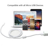 Relâmpago que cobra o micro cabo do carregador dos dados do USB com o anel magnético