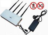 Desktop 4 antenas con control remoto 2G 3G de la señal de celular Jammer