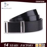 Beiläufige Form-Entwurfs-Faltenbildung-umschaltbare schwarze lederne Mann-Riemen