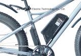 Grande potere bici elettrica grassa dell'incrociatore della spiaggia da 26 pollici con la batteria di litio