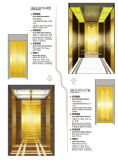 Ascenseur de passager avec la décoration de luxe pour l'hôtel ou le bureau