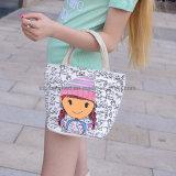 Form-Karikatur-Drucken-Frauen-Handtaschen-Dame-Segeltuchtote-Einkaufen-Beutel