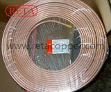 Tubo de cobre en espiral destemplado inconsútil de la crepe