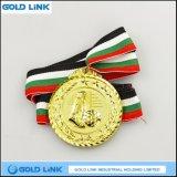 La medaglia del pezzo fuso mette in mostra la medaglia dorata del mestiere del metallo delle medaglie di gioco del calcio