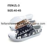 Zapatos ocasionales del calzado de los zapatos de lona de la inyección de los hombres (FFZL1230-01)