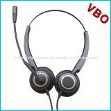 2017マイクロフォンを取り消す騒音の新しい両耳のコールセンターUSBのヘッドセット