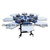 Máquina manual de la impresora de la pantalla de la materia textil de 8 colores