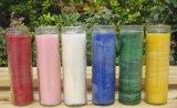 Tarro de la vela de /Glass del tarro de la vela de la iglesia/sostenedor de vela de cristal