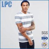 Katoenen van het Etiket van de Douane van de fabrikant Privé Korte Koker Afgedrukte 180g T-shirt