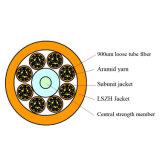 Кабель оптического волокна пробки LSZH крытой структуры распределения сердечников FTTH 96 свободный