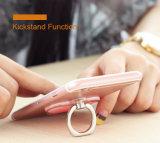 La alta calidad colorida de lujo del diseño electrochapa la cubierta universal de la caja del teléfono PC posterior superior de Kickstand del anillo de la nueva para el iPhone 7 7 más