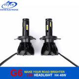 H13 H7 H11 H4 9005 9006 phare de Philips G6 DEL 48W 4800lm pour l'ampoule de phare de moto