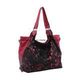 Grande bolsa vermelha de ombro de pele de moda vermelha (MBNO042046)