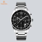 Movimiento suizo multifunción Sport hombres Relojes de Pulsera Reloj analógico de acero inoxidable 72795
