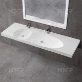 Bassin de main extérieur solide de lavage de salle de bains de piédestal de lavabo