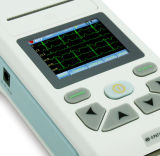ECG 기계 하나 채널 12 지도 ECG Electrocardiograph, PC 소프트웨어, USB 케이블