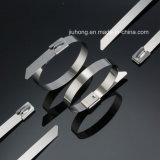 Blanke selbstsichernde Kabelbinder des Edelstahl-Ss304/316