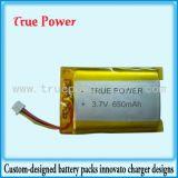 batterie de polymère de lithium de 3.7V 650mAh pour des joueurs de MP3 Digital