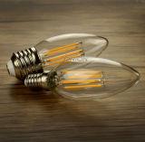 아무 흔들림 2W 4W 6W B11 B10 Ca10 E12 Dimmable LED 필라멘트없음도