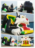 Cartoon Cat Inflatable Bungee Jump Bouncy Diapositive