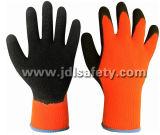 Акриловая перчатка работы с черным естественным покрытием латекса (LY2026T)