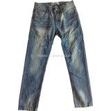 Белая заливка мужчин джинсы Классические джинсы