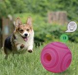 Primicia mundial Launch-Interactive juguetes de perro de sonido y tratar de bola rodante Ball-Pink Dispensing-Squeaking tratar pequeños