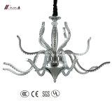 스테인리스 천장 램프를 가진 현대 수정같은 샹들리에 빛
