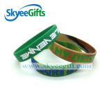 Wristband su ordinazione del silicone di Debossed con colore riempito