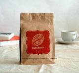 Biodegradable de maní de granos de café bolsa de papel de los alimentos