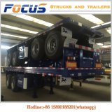 Tri dos eixos 40FT da plataforma caminhão de reboque Semi para o transporte especial