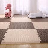 Guarnição de madeira escura Puzzle azulejos de espuma de EVA EVA tapetes Tapetes de piso de Espuma
