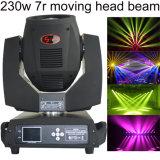 두 배 프리즘과 유리 Gobo를 가진 새로운 230W 7r Sharpy 광속 이동하는 헤드