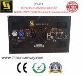 Amplificador de placa estéreo D3-2.1 com DSP para sistema de cinema em casa de 2.1 canais