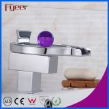 Fyeer Hot Sale Bathroom LED Waterfall Basin Faucet