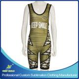 Diseño personalizado de impresión por sublimación personalizada Tank Top Premium Wrestling camiseta