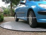 Plataforma giratória do carro do estacionamento para a HOME e o indicador